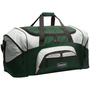 JEEP SK embroidered logo BG99 Port & Co. Colorblock Sport Duffel