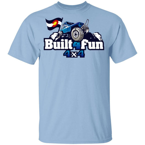 Built4Fun blue G500B Gildan Youth 5.3 oz 100% Cotton T-Shirt