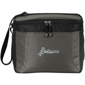 Jeep Alberta silver embroidered logo BG513 12-Pack Cooler