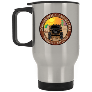 Copper Rock 4-Wheelers XP8400S Silver Stainless Travel Mug
