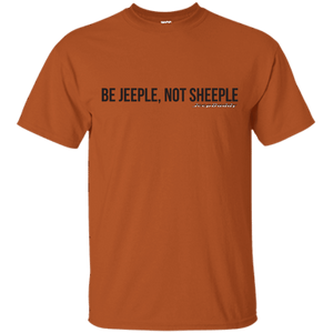 JeepDaddy Be Jeeple Not Sheeple Crew Neck T-Shirt