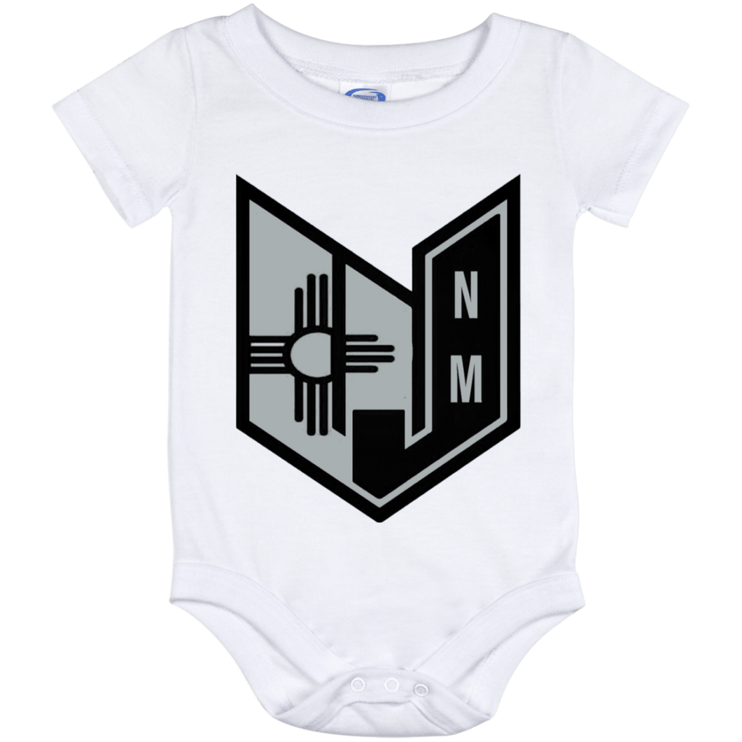 Wicked Jeeps NM Black & Silver Baby Onesie 12 Month