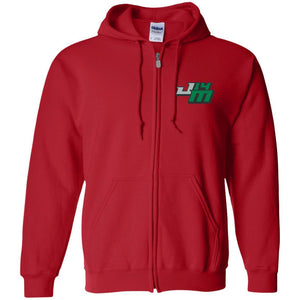 John Moul Racing embroidered logo G186 Gildan Zip Up Hooded Sweatshirt