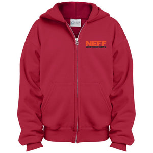 Neff Motorsports embroidered PC90YZH Port & Co. Youth Full Zip Hoodie