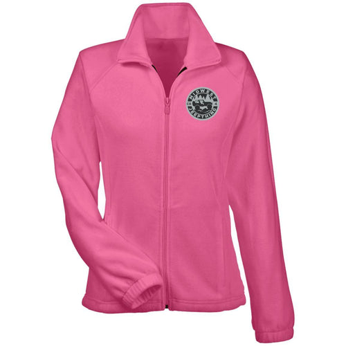 MWJT silver & black embroidered logo M990W Harriton Women's Fleece Jacket