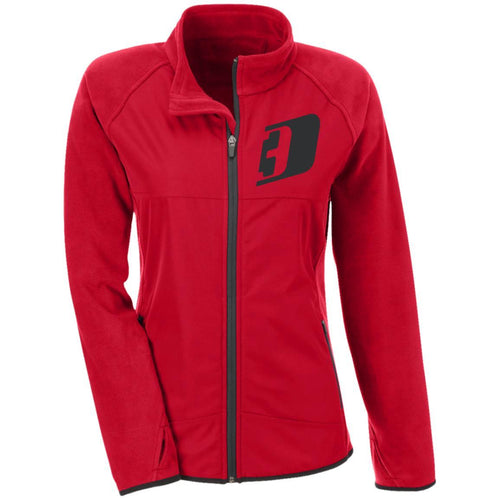 D3 black embroidered TT92W Team 365 Ladies' Microfleece with Front Polyester Overlay