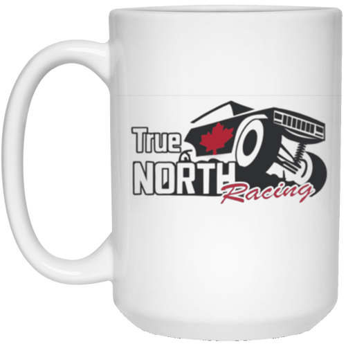 True North Racing dye sublimation 21504 15 oz. White Mug