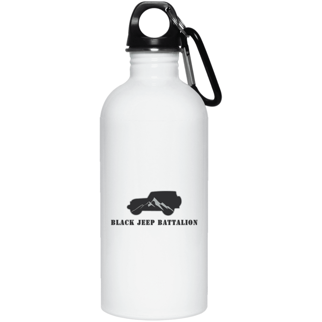 Black Jeep Battalion 23663 20 oz. Stainless Steel Water Bottle