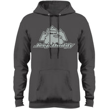 JeepDaddy grey logo PC78H Port & Co. Core Fleece Pullover Hoodie