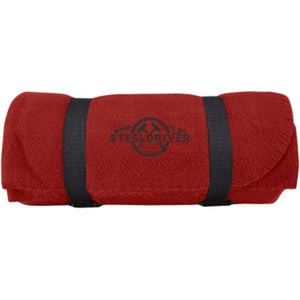 SteelDriver embroidered BP10 Port & Co. Fleece Blanket
