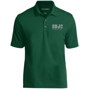 SDJC silver embroidered logo K110 Port Authority Dry Zone UV Micro-Mesh Polo