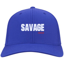 Savage Jeeps embroidered C813 Port Authority Flex Fit Twill Fullback Baseball Cap