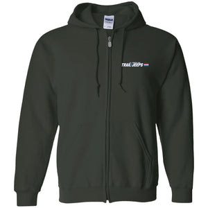 Trail Jeeps embroidered logo G186 Gildan Zip Up Hooded Sweatshirt