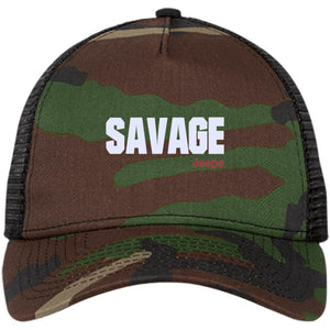 Savage Jeeps embroidered NE205 New Era® Snapback Trucker Cap