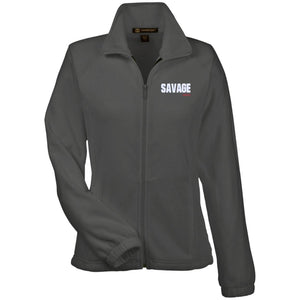 Savage Jeeps embroidered M990W Harriton Women's Fleece Jacket