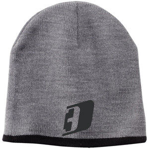 D3 black embroidered CP91 100% Acrylic Beanie