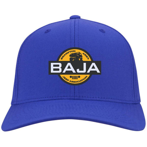 BAJA embroidered logo C813 Port Authority Fullback Flex Fit Twill Baseball Cap