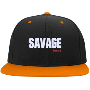 Savage Jeeps embroidered STC19 Sport-Tek Flat Bill High-Profile Snapback Hat
