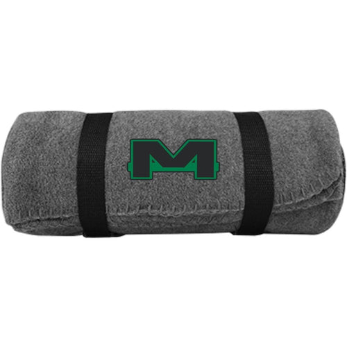 MOAB Motorsports embroidered BP10 Port & Co. Fleece Blanket
