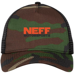 Neff Motorsports embroidered NE205 New Era® Snapback Trucker Cap