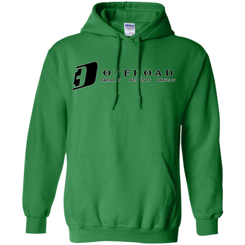 D3 Offroad white border G185 Gildan Pullover Hoodie 8 oz.