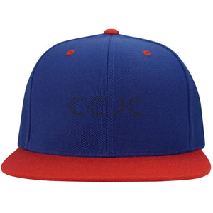 CCJC embroidered STC19 Sport-Tek Flat Bill High-Profile Snapback Hat