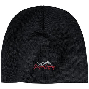 JeepnGypsy silver & red embroidered CP91 100% Acrylic Beanie
