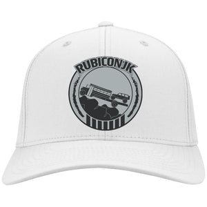 Rubiconjk silver embroidered logo C813 Port Authority Flex Fit Twill Baseball Cap