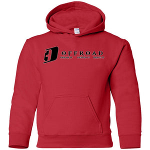 D3 Offroad white border G185B Gildan Youth Pullover Hoodie