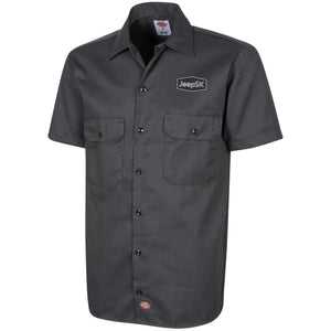 JEEP SK embroidered logo 1574 Dickies Men's Short Sleeve Workshirt