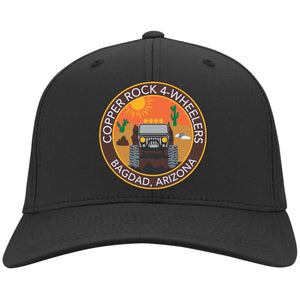 Copper Rock 4-Wheelers embroidered logo C813 Port Authority Flex Fit Twill Baseball Cap