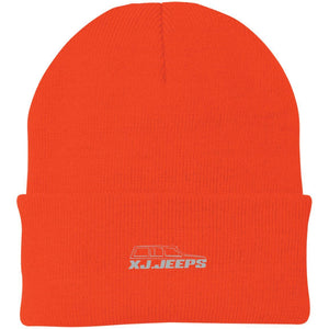 XJ Jeeps silver embroidered logo CP90 Port Authority Knit Cap