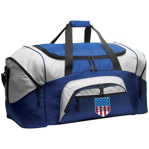 American Off-Road embroidered logo BG99 Port & Co. Colorblock Sport Duffel