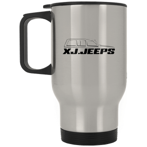 XJ Jeeps black XP8400S Silver Stainless Travel Mug