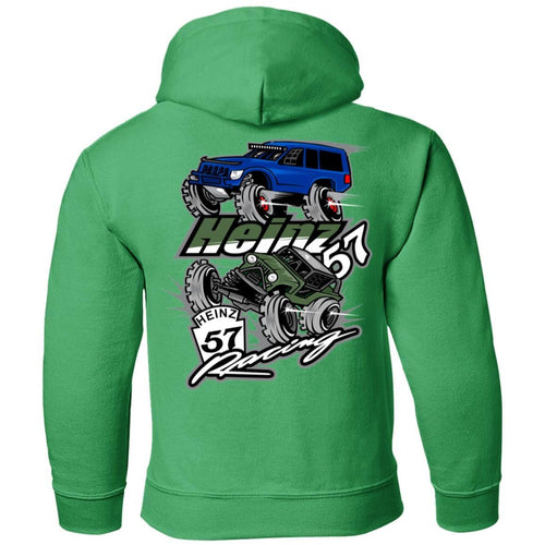 H57 Racing 2-sided print G185B Gildan Youth Pullover Hoodie