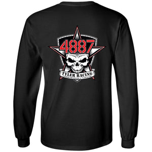 Tyler Racing 2-sided print G240B Gildan Youth LS T-Shirt