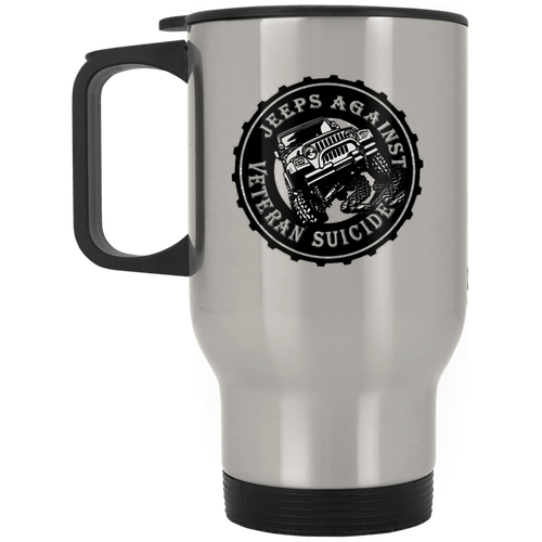 Jeeps Against Veteran Suicide XP8400S Silver Stainless Travel Mug