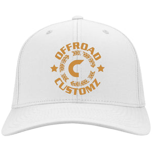 Offroad Customz gold embroidered logo C813 Port Authority Flex Fit Twill Baseball Cap