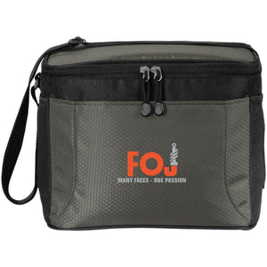 FOJ silver embroidered BG513 12-Pack Cooler