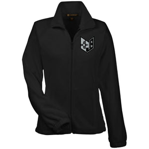 Wicked Jeeps NM embroidery Black & Silver M990W Harriton Women's Fleece Jacket
