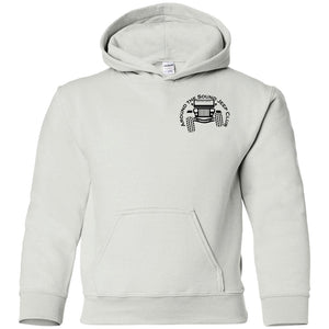 ASJC black logo 2-sided print G185B Gildan Youth Pullover Hoodie
