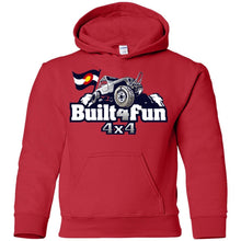 Built4Fun grey G185B Gildan Youth Pullover Hoodie
