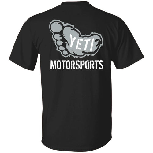 Yeti Motorsports logo 2-sided print G500B Gildan Youth 5.3 oz 100% Cotton T-Shirt
