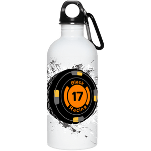 Black 17 23663 20 oz. Stainless Steel Water Bottle