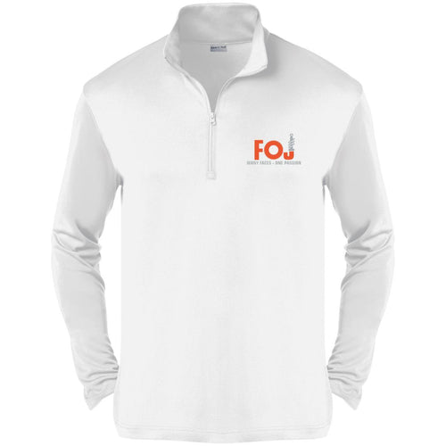 FOJ silver embroidered ST357 Sport-Tek Competitor 1/4-Zip Pullover