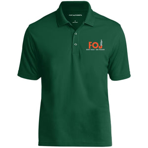 FOJ silver embroidered K110 Port Authority Dry Zone UV Micro-Mesh Polo
