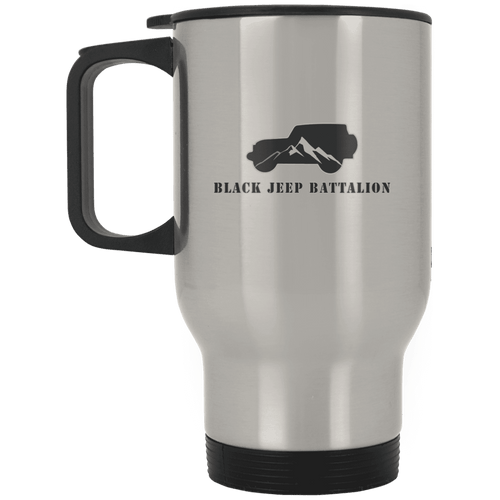 Black Jeep Battalion XP8400S Silver Stainless Travel Mug