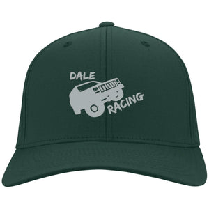 Dale Racing silver embroidered logo C813 Port Authority Fullback Flex Fit Twill Baseball Cap