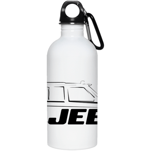 XJ Jeeps black full wrap around logo 23663 20 oz. Stainless Steel Water Bottle