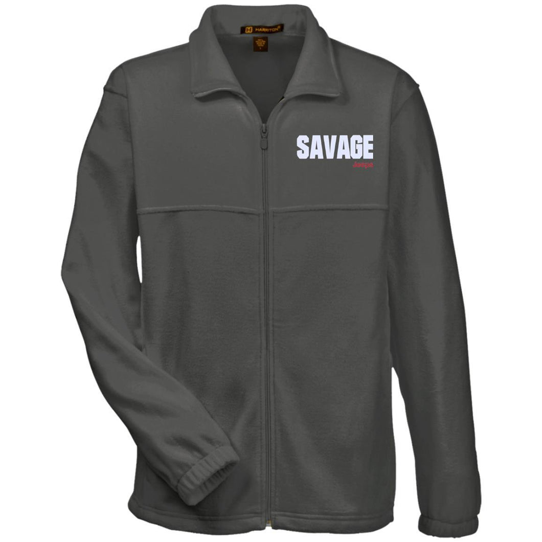 Savage Jeeps embroidered M990 Harriton Fleece Full-Zip
